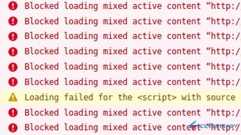 Wordpress error Blocked loading mixed active content