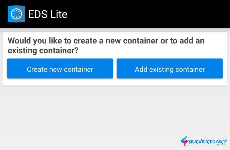 Import an existing VeraCrypt container on Android