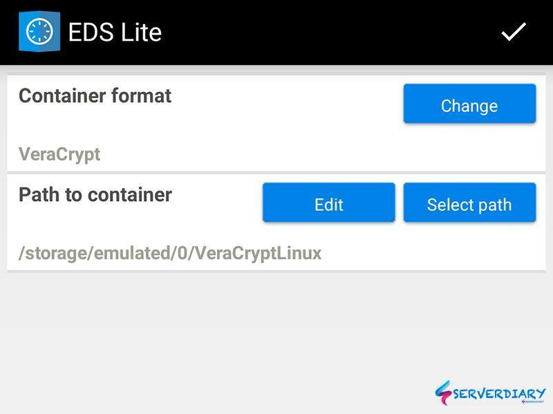 Open VeraCrypt on Android